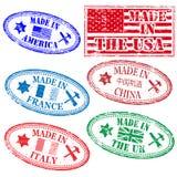 Verwerkende rubberzegels Royalty-vrije Stock Afbeelding