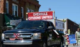 Verwerp Burgers Verenigde marchers in Ypsilanti, MI vierde van Ju Stock Fotografie