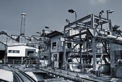 Verwerp industriële fabriek stock fotografie