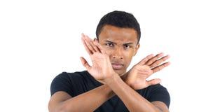 Verwerpen, die Ontkennend de Zwarte Mens niet houden van stock foto's