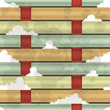 Verweven vezels en wolken royalty-vrije illustratie