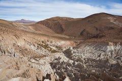 Verwickelte Felsformationen auf dem chilenischen Altiplano Stockfoto