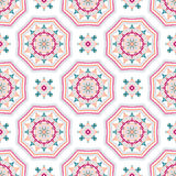 Verwickelte Mandala Pattern Tile Background Lizenzfreie Stockbilder