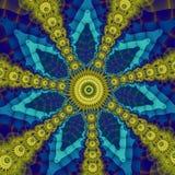 Verwickelte sternförmige Verzierung lizenzfreies stockbild