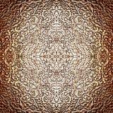 Verwickeltes silbernes Muster als polierte Zusammenfassung Lizenzfreie Stockfotografie