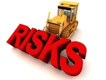 Verwijder risico's door bulldozer stock illustratie