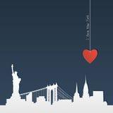 Verwijderd silhouet van New York Royalty-vrije Stock Foto's