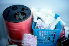 Verwijderingscontainer voor Besmettelijk afval, die medisch afval verminderen royalty-vrije stock foto's
