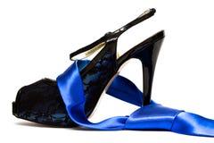 Verwijfde schoen met halsband royalty-vrije stock foto