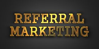 Verwijzing Marketing. Bedrijfsconcept. Royalty-vrije Stock Foto