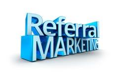 Verwijzing Marketing tekst vector illustratie