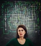 Verwirren Sie Fragenlabyrinth lizenzfreie stockfotografie