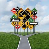 Verwirrende Richtungs-Entscheidung Stockfoto