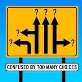 Verwirrt durch Wahlen Stockbild