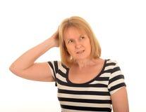 Verwirrte Frau lizenzfreie stockfotografie