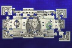 Verwirrter Dollarschein lizenzfreies stockfoto