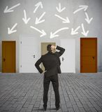 Verwirrter Geschäftsmann Stockbilder