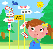 Verwirrter Kindervektor Lizenzfreie Stockbilder