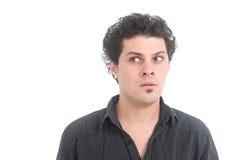 Verwirrter Mann Stockfoto