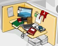 Verwirrter oben Schreibtisch Stockfoto