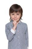 Verwirrtes Little Boy Lizenzfreie Stockfotografie