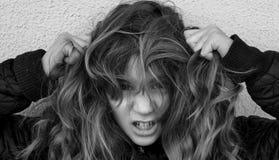 Verwirrtes Mädchen Lizenzfreies Stockfoto