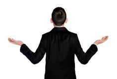 Verwirrtes zurück schauen des Geschäftsmannes Lizenzfreies Stockbild