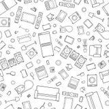 Verwirrung des Entwurfsikonen-Hausgerätes nahtlos lizenzfreie abbildung