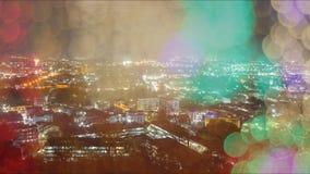Verwischen Sie abstraktes bokeh des Stadtnachtlichthintergrundes, Phuket Lizenzfreie Stockfotos