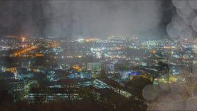 Verwischen Sie abstraktes bokeh des Stadtnachtlichthintergrundes, Phuket Stockbild