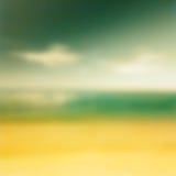 Verwischen Sie undeutliches Bild des Hintergrundes, des Strandes und des Himmels Lizenzfreie Stockfotos