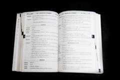 Verwischt, Buchseiten lizenzfreie stockbilder