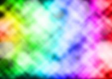 Verwischt von Defocus-Bild von Bokeh über Mehrfarbenstern Backgroun lizenzfreie abbildung