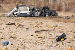 Verwischt von der Autobombe Stockbild