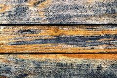 Verwitterte alte gestreifte Beschaffenheit des hölzernen Musters des natürlichen Hintergrundes der Bretter-ein Stockfotografie