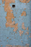 Verwitterte Backsteinmauer Stockbild