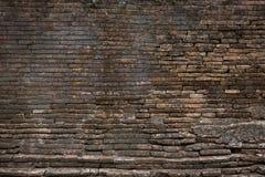 Verwitterte Beschaffenheit des Schmutzes alte Backsteinmauer Lizenzfreie Stockfotografie