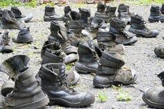 Verwitterte Brogues von den Bergleuten - Anzeige der Verkleinerung des Jobs Lizenzfreie Stockfotos