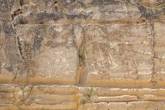 Verwitterte Kalkstein-Stadtmauern von Valletta Stockbilder