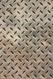 Verwitterte Metallfußbodenabdeckung Lizenzfreie Stockbilder