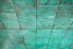 Verwitterte, oxidierte kupferne Wandstruktur Lizenzfreies Stockfoto