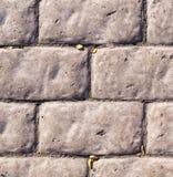 Verwitterte Stein gepflasterte Straße Beschaffenheit Lizenzfreies Stockbild