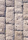 Verwitterte Stein gepflasterte Straße Beschaffenheit Stockbilder