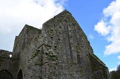 Verwitterte Steinruinen von Hoare-Abtei in Irland Lizenzfreies Stockfoto
