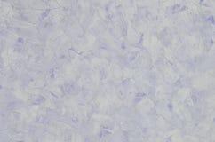 Verwitterte und befleckte alte blaue Gipswandbeschaffenheit Stockfoto