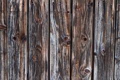 Verwitterter dunkler Gitter-Zaun Wood Background lizenzfreies stockfoto