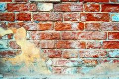 Verwitterter Hintergrund der alten Backsteinmauer Lizenzfreie Stockbilder