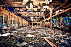 Verwoest bureau Stock Afbeeldingen