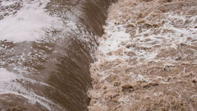 Verwoestende Vloedstromen stock videobeelden