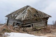 Verwoestingsdorp als voorbeeld van verlaten Royalty-vrije Stock Afbeelding